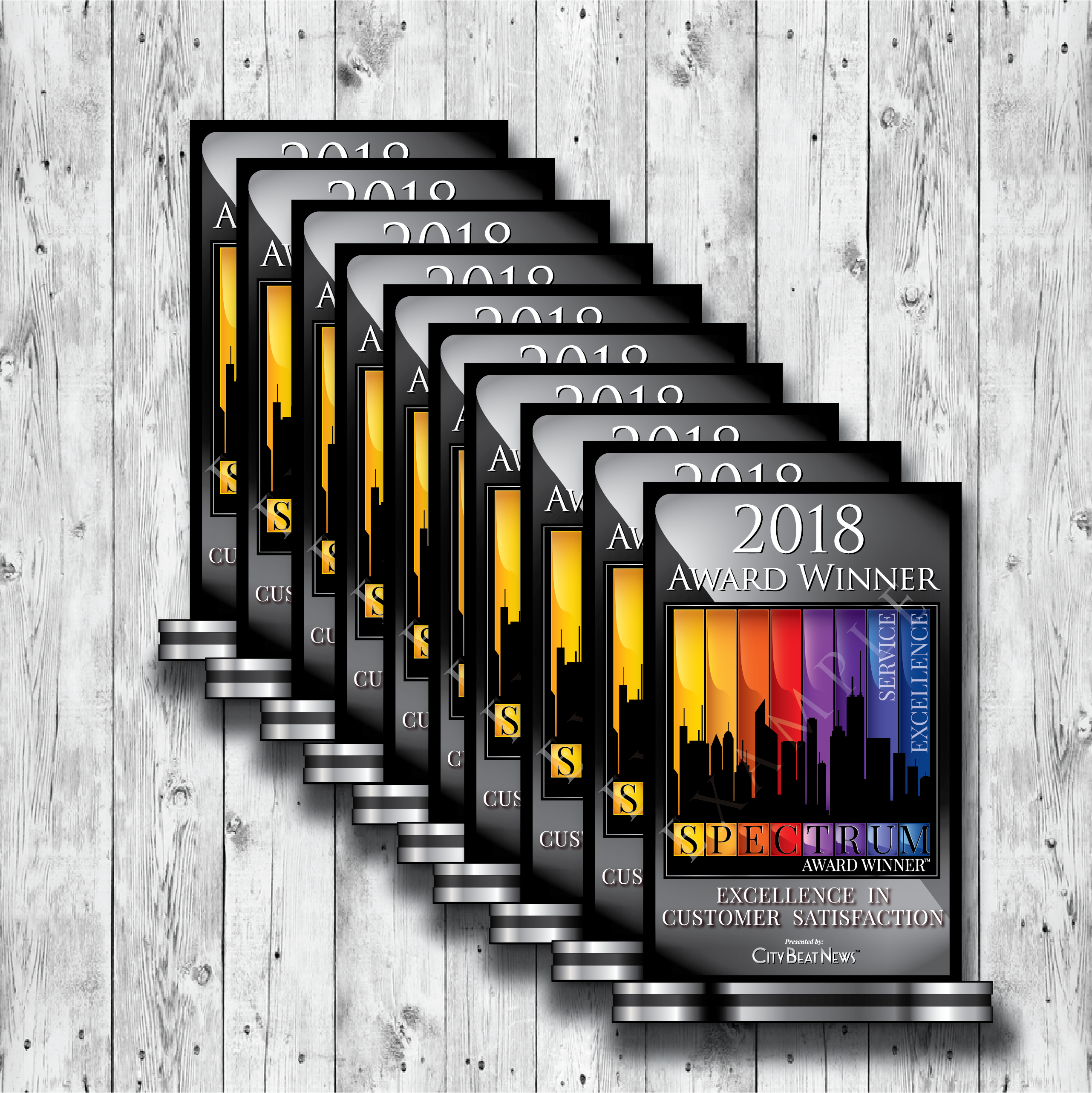 2018 City Beat News Spectrum Award Emblem Set of 10