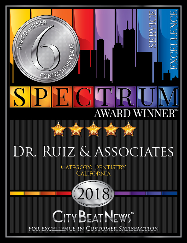 Dr. Ruiz & Associates 2018 City Beat News Spectrum Award Certificate